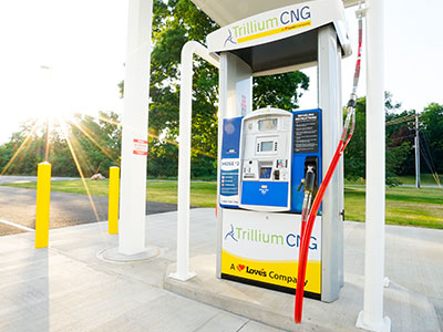 Trillium CNG pump with sunburst
