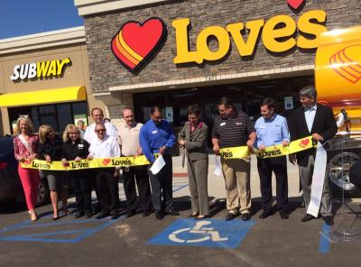 Choctaw 486 grand opening of Love's Travel Stops