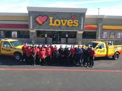 Love's grand opening in Italy, Texas
