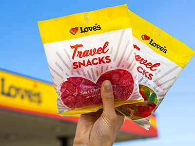 loves travel snacks candy line