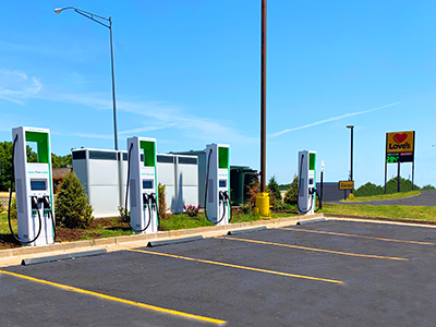 electrify america ev chargers at love's travel stops