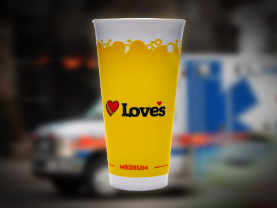 free Love's fountain drink for medical professionals