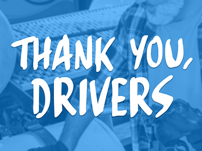 thank you drivers text graphic from loves