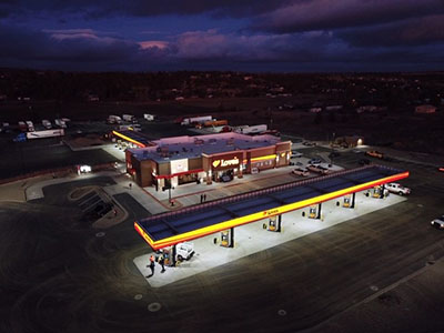 loves travel stops aerial photo of new location in madras oregon