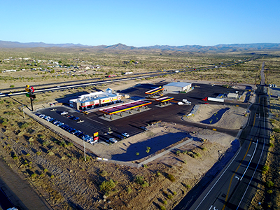 drone photo of Love's Travel Stops in Cordes Junction, Arizona