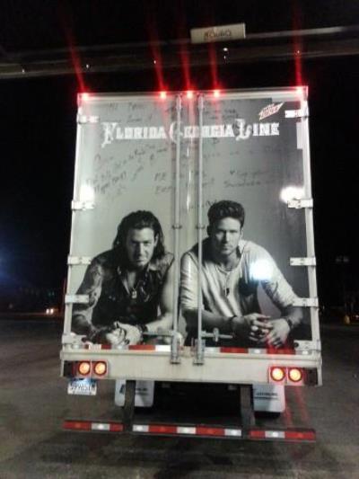 Florida Georgia Line truck at Love's