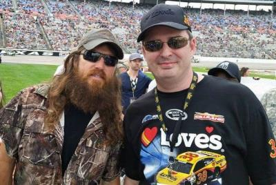 Jase Robertson with Love's managers