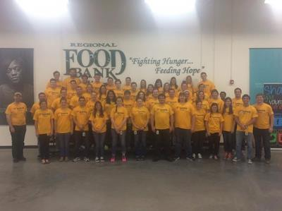 Love's interns volunteer at OKC food bank
