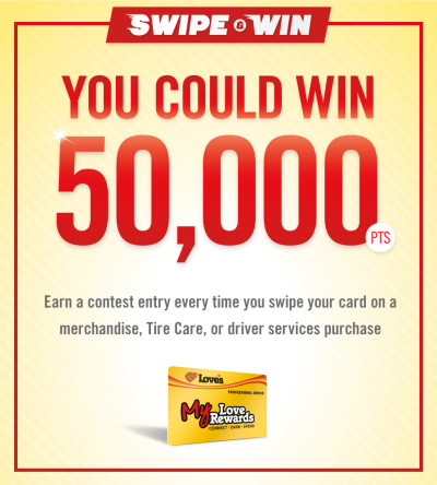 My Love Rewards swipe and win