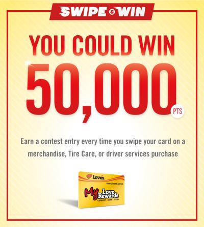 My Love Rewards swipe and win