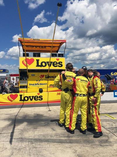 Front Row and Love's pit stop