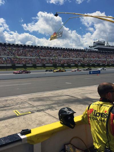 38 loves ford on pocono racetrack