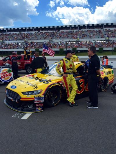 Gilly with Love's Ford at pocono