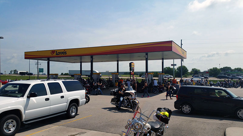 Bikers support memorial park in Illinois