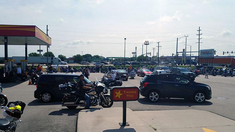 Bikers support memorial park in Illinois