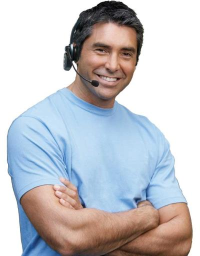 BlueParrott headset on man