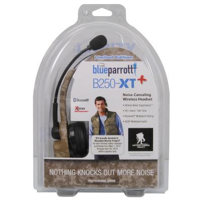 camo BlueParrott headset packing
