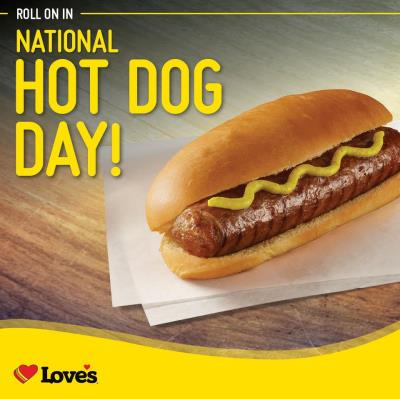 national hot dog day at Love's
