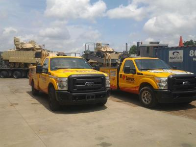 love's service trucks at canton, mississippi