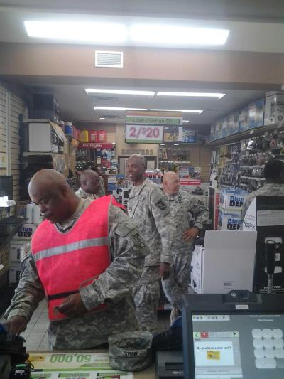 national guard at love's in MS