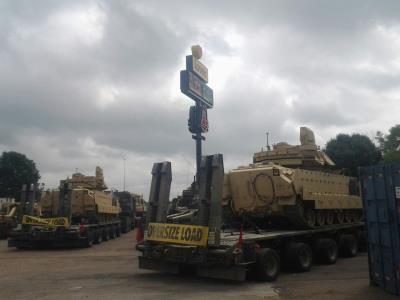 military tanks at love's