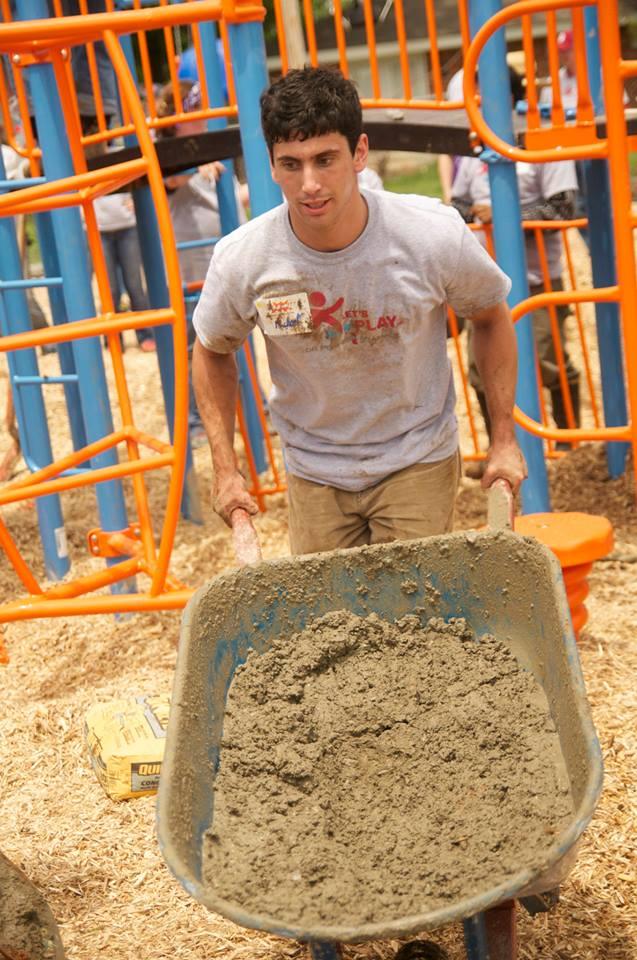 Love's volunteers help build YMCA playground