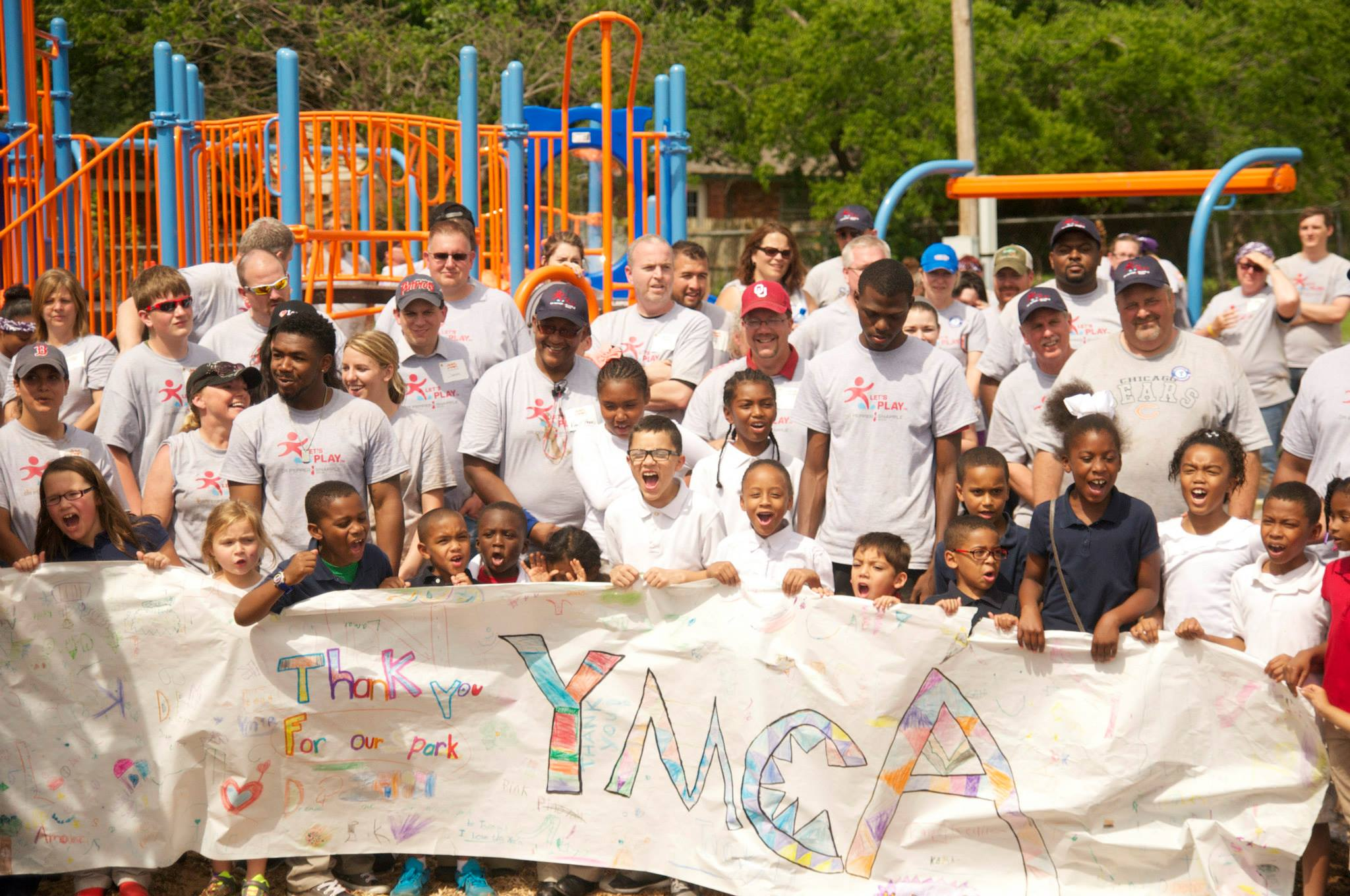 Love's volunteers help build YMCA playground