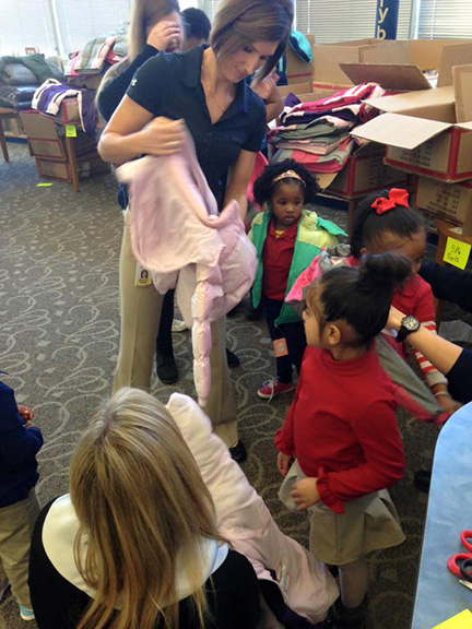 Love's employees pick out coat for kid