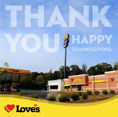 Happy thanksgiving from Love's