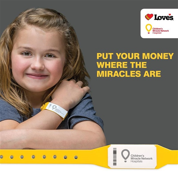 Children's Miracle Network fundraising for Love's Travel Stops