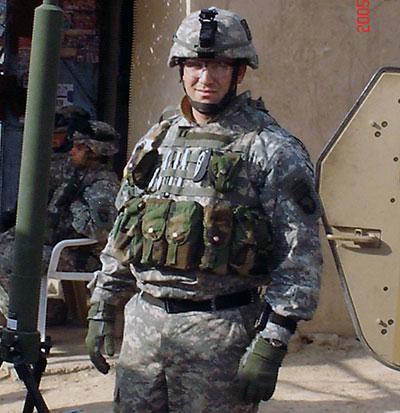 Drew Graham in military uniform