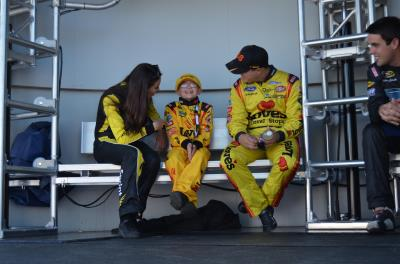 miss sprint cup with kid and gilliland