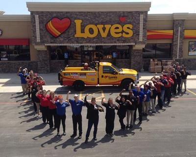 Lubbock Texas Love's travel stop picture in memory of Robert Arthur