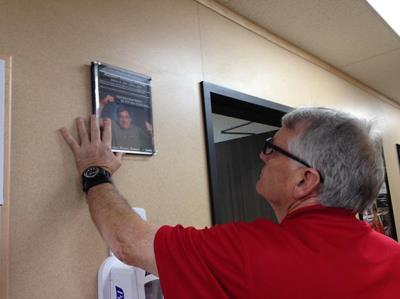 Love's employee posts plaque of previous employee