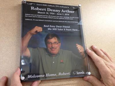 Plaque to remember Love's employee Robert Arthur