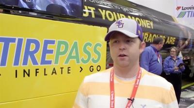 Trucker loves TirePass at GATS