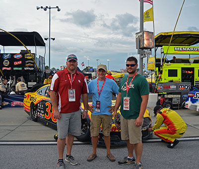 NASCAR fans with David Gilliland
