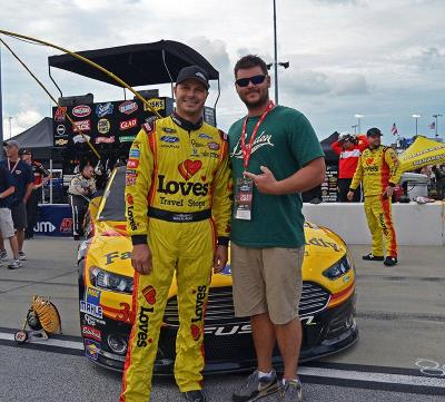 Love's David Gilliland and fan