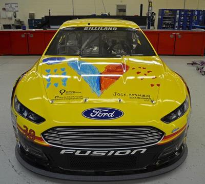 Miracle child design on #38 Love's Ford