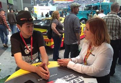 My Love Rewards members talks with Love's at MATS