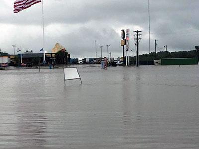 Flooding in Duson Louisiana 2016