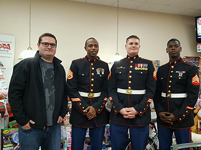 marines with loves travel stop manager