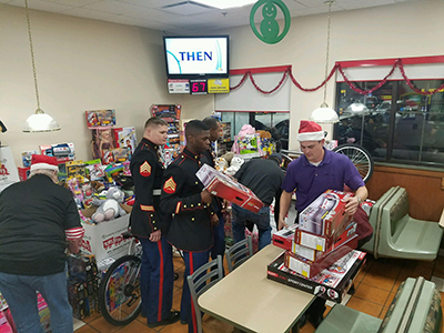 toys for tots at loves