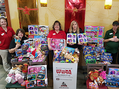 loves employees donate to toys for tots