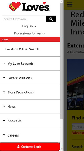 my love rewards customer login on mobile phone