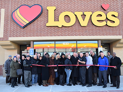 grand opening at Love's in Chicago area