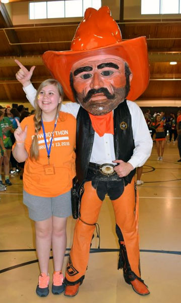 Lizzy Lindley at CowboyThon 2016