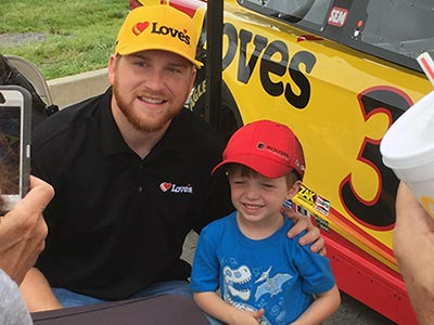 Chris Buescher visits Sparta Kentucky