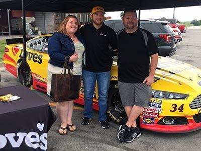 Chris Buescher visits Sparta Kentucky
