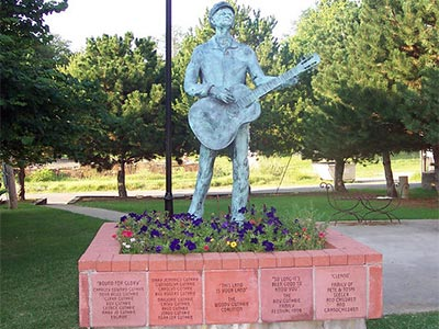 Woody Guthrie statue in Okemah
